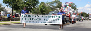 Azorean Maritime Heritage Society in parade in New Bedford, Massachusetts