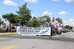 Azorean Maritime Heritage Society in a parade in New Bedford