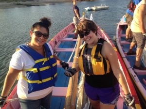 Azorean Maritime Heritage Society members on a whaleboat