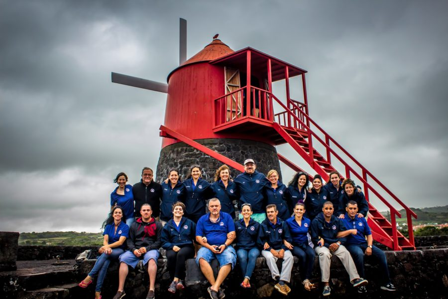 Azorean Maritime Heritage Society members in the Azores