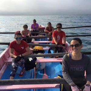 Azorean Maritime Heritage Society women's rowing team