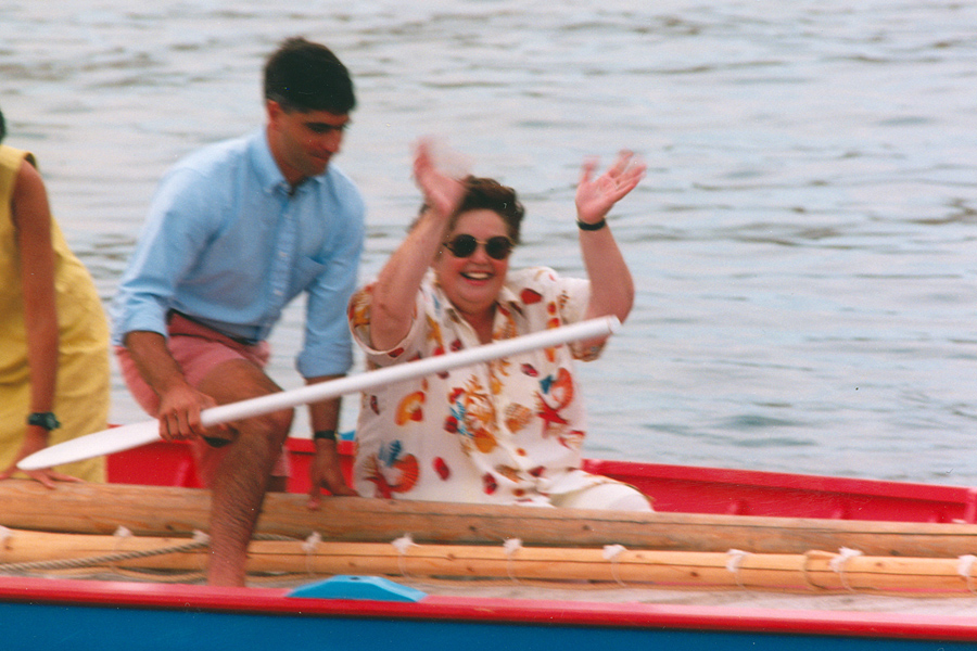 Dr. Mary T. Vermette on Azorean whaleboat