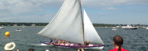 sailboat at International Azorean Whaleboat Regatta in New Bedford, Massachusetts