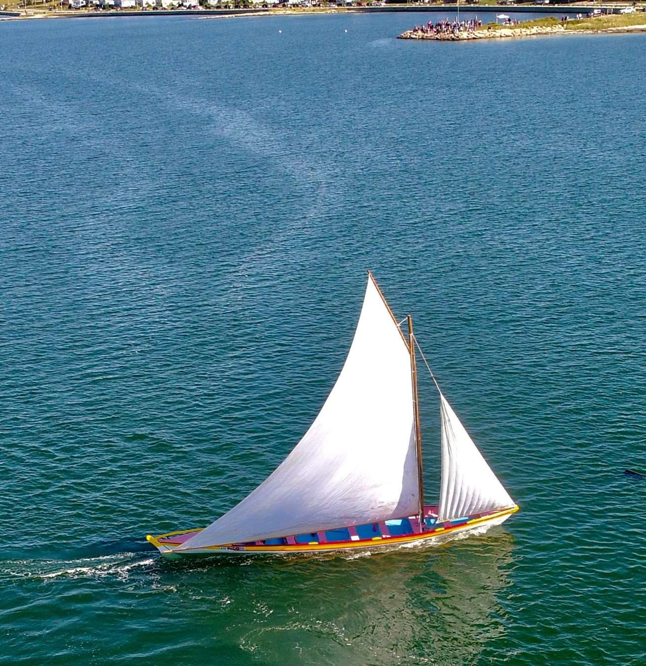 Azorean whaleboat sailing in New Bedford