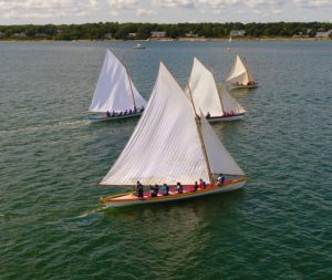 Azorean and Yankee whaleboats sailing in New Bedford
